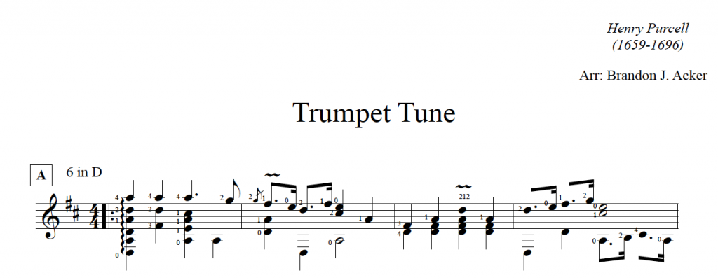 trumpet purcell